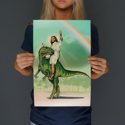 Jesus Lizard Print