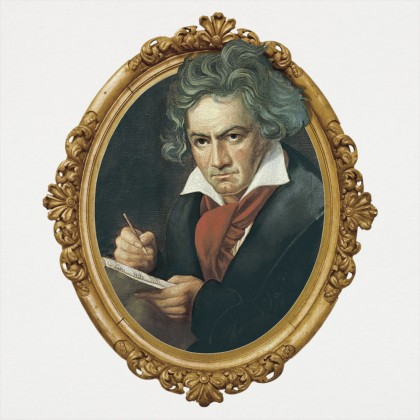 Beethoven Framed Graphic