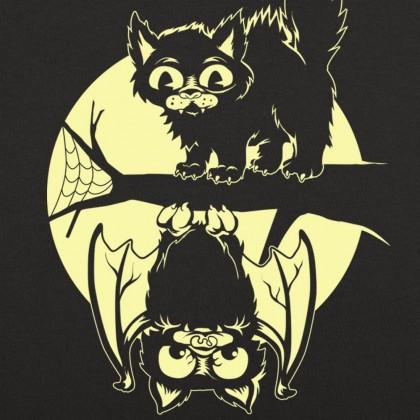 Cat And Bat Halloween