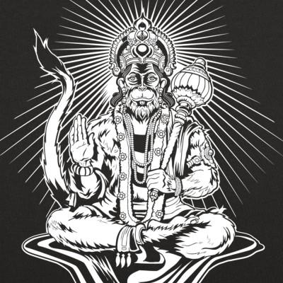 2727ee1d7 Hanuman Monkey God T-Shirt