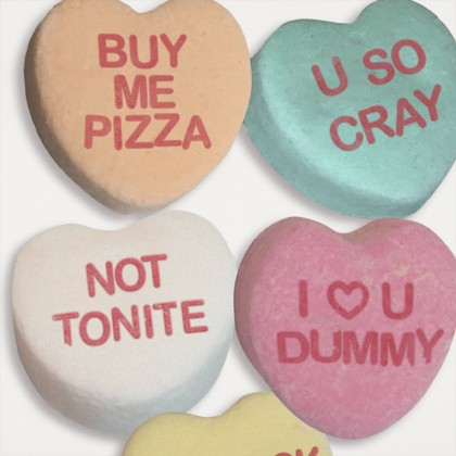 Candy Hearts Graphic